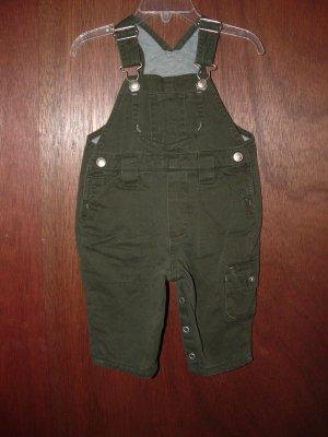 Boy BABY GAP Khaki Lined Pant Overalls 3-6 Months *EUC*