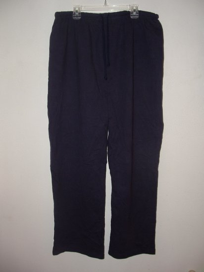 Maternity BABY AND ME Comfy Blue Cotton Pants MED *EUC*