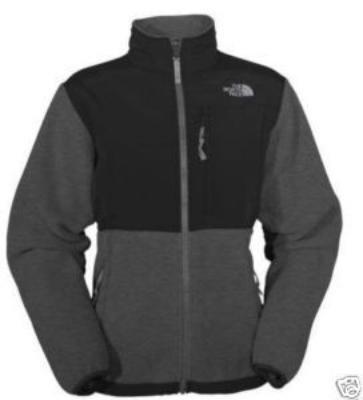 NWT North Face Denali Jacket Women's Grey Black Sz XL