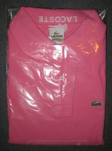NEW Lacoste Womens Polo shirt Pink Sz Large L 6