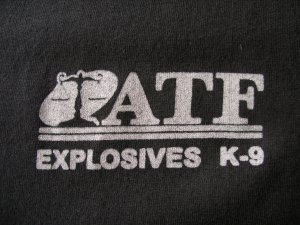 ATF EXPLOSIVES K9 T-SHIRT