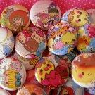 25 Kawaii Pinback Buttons Grab Bag