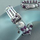 SILVER SLIDING/DANGLING FOOTBALL CHARM BRACELET