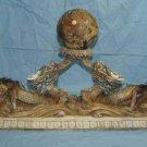 Nice Bone Carving Art Double Dragon Play Bead Figure