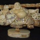 Old Bone Art Handicraft Lucky Wealth Buddha Bring Fortune