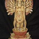 Old Bone Art Handicraft Lucky Thousand Hand Kwan-yin Figure