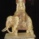 Old Bone Art Handicraft Bodhisattva Ride Elephant Figure