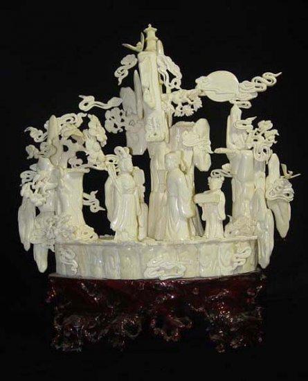 Old Bone Art Handicraft the cowherd in the legend Meet Figure