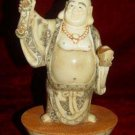 Old Bone Art Handicraft Lucky Ruyi Wealth Buddha Figure
