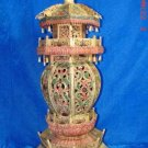 Exquisite Bone Art Handicraft Carving Tower Decoration