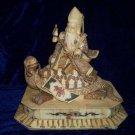 Exquisite Bone Art Handicraft Lucky God Ride Tortoise Figure