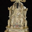 Exquisite Bone Art Handicraft Lucky Chinese Wealth God Figure