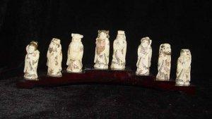 Exquisite Bone Art Handicraft Chinese Eight immortal Figure
