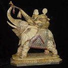 Exquisite Bone Art Handicraft Lucky Mile Buddha Ride Elephant Figure
