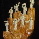 Exquisite Bone Art Handicraft Seven immortal Figure