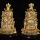 Exquisite Bone Art Handicraft Chinese emperor empress Figure