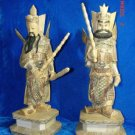 Exquisite Bone Art Handicraft Chinese Two Door God Figure