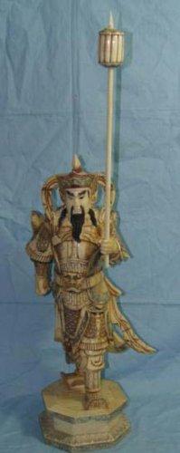 Exquisite Bone Art Handicraft Chinese Lucky Door God Figure