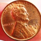 1935-D Lincoln Wheat Cents.