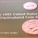 "1993 U.S. Mint Set. Original Packing, ""P"" and ""D"" UN-Circualted Coins."