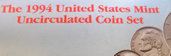1994 U.S. Mint UN-Circualted Coin Set