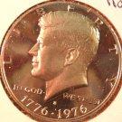 1976-S Proof Kennedy halve Dollar. Raw. Gem.