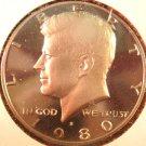 1980-S Proof Kennedy Halve Dollar. Raw. Gem.