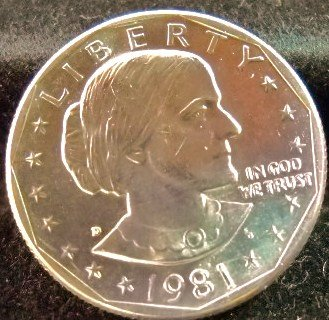 1981-D Susan B. Anthony. Choice UN-Circulated