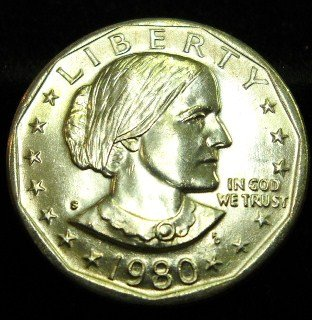 1980-S Susan B. Anthony. Choice UN-Circulated.