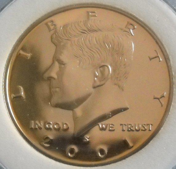 2001-S Proof Kennedy Half Dollar, SILVER.
