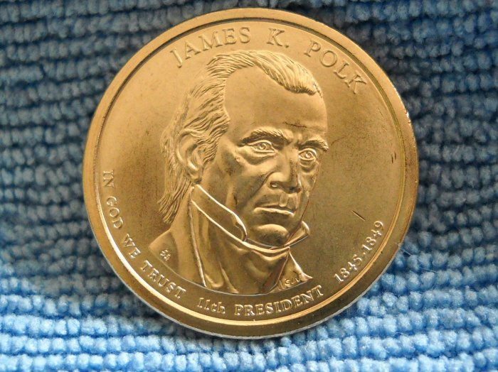 "2009-D Presidential Dollar. ""James K. Polk"""