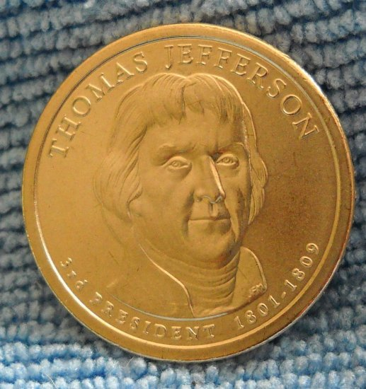 "2007-D Presidential Dollar. ""Thomas Jefferson"""