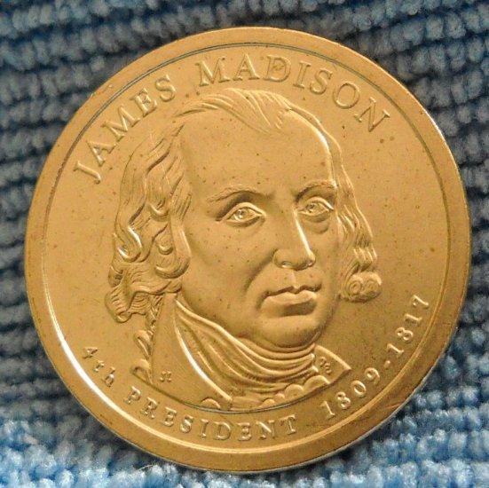 "2007-D Presidential Dollar. ""James Madison"""