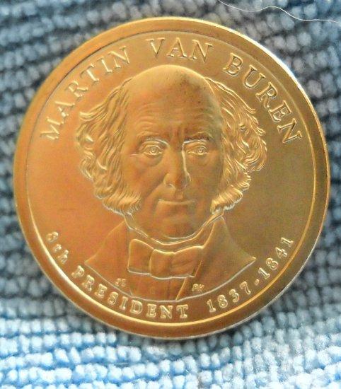 """2008-D Presidential Dollar, """"Martin van Buren"""" BU"""