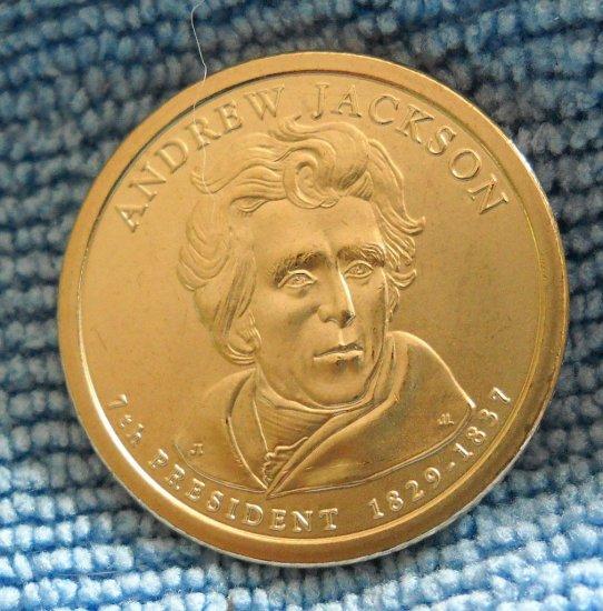 "2008-D Presidential Dollar, ""Andrew Jackson"" BU"