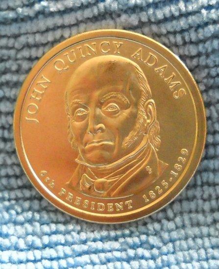 """2008-D Presidential Dollar, """"John Q. Adams""""  BU"""