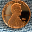 2001-S Lincoln Memorial Cent. Choice Proof.