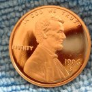 1996-S Lincoln Memorial Cents. Choice Proof.