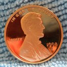 1998-S Lincoln Memorial Cents. Choice Proof.