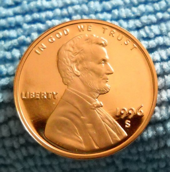 1996-S Lincoln Memorial Cents, Choice Proof.