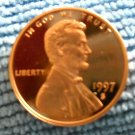 1997-S Lincoln Memorial Cents, Choice Proof.