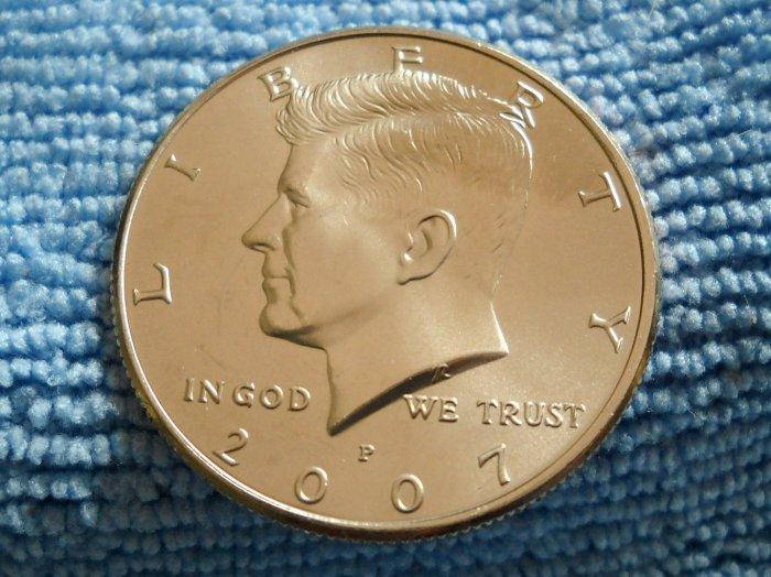 """2007-P Kennedy Half Dollar.  """"CHOICE BU"""""""
