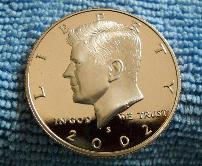 """2002-S Kennedy Half Dollar. """"CLAD PROOF"""""""