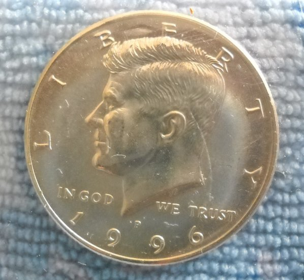 """1996-P Kennedy Half Dollar. """"Choice BU"""""""