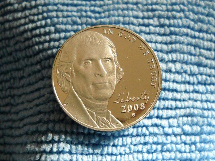 2008-S Jefferson Nickel.  *CHOICE PROOF*