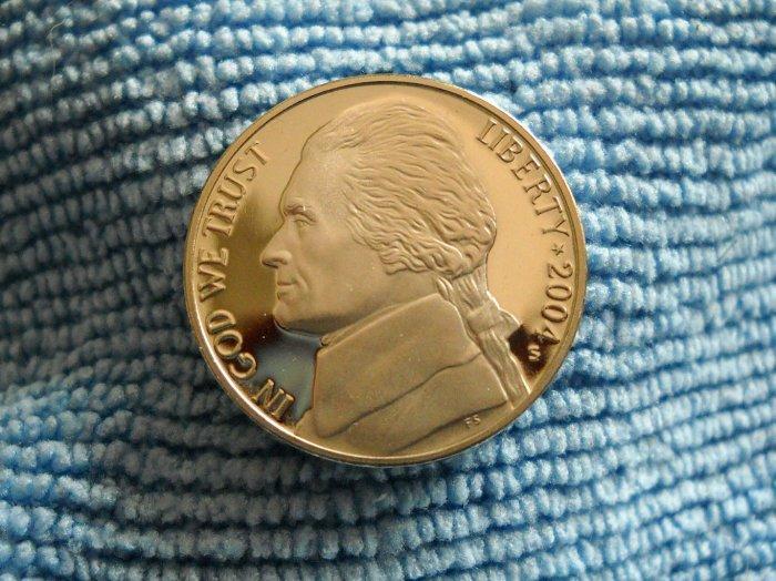 """2004-S Jefferson Nickel. *CHOICE PROOF*  """"Keel"""""""