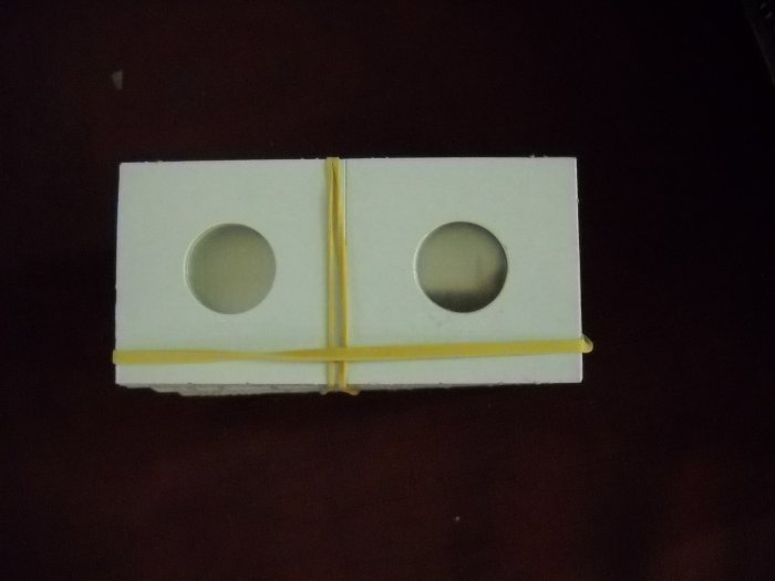 """2x2 Coin Holder, fits """"Pennies and Dimes""""."""