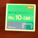 Staples, Mini, No-10, 5 MM, 5000 Staples per Box.