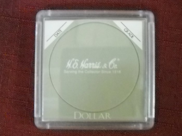 "2x2 Harris Plastic Coin Holder ""Dollar""  5 pack"