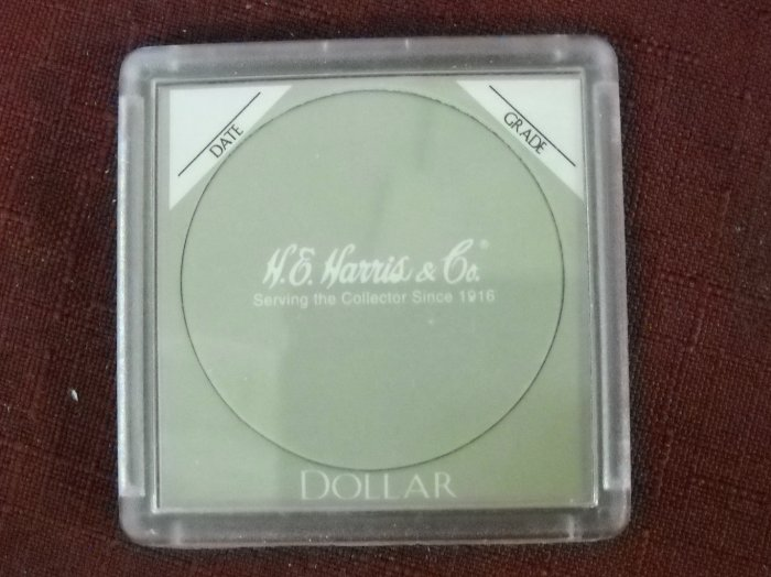 2x2 Harris Plastic coin holder, Sold in packs of 5.